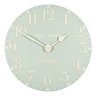 image of thomas kent wall clock 12 inch duck blue