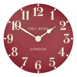 "image of thomas Kent 12"" wall clock in red"