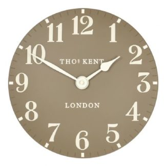 "image of thomas kent 12"" in Taupe wall clock -"
