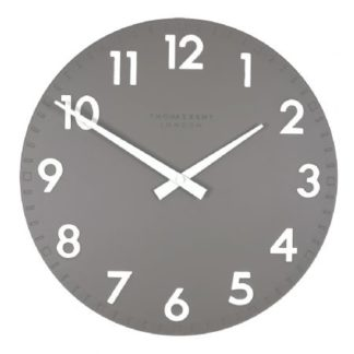 "image of thomas kent wall clock 12"" in slate"