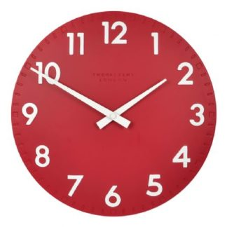 "image of thomas kent clock 12"" in red"