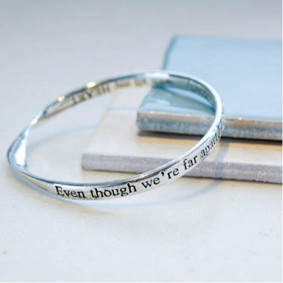image of Message Bangle Even though we're far apart..