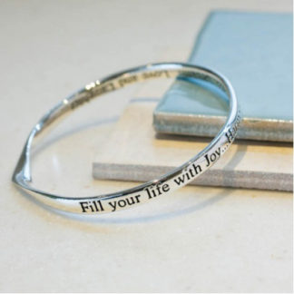 image of Message bangle Joy and Harmony..