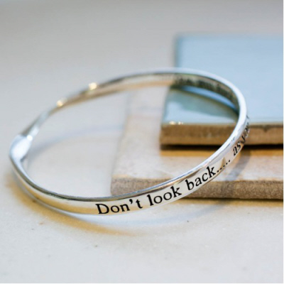 image of Message bangle Don't look back..