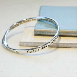 image of Message bangle There's this girl