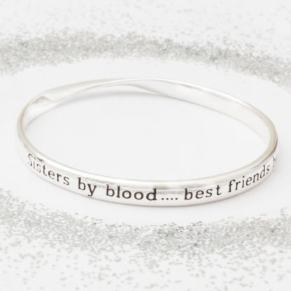 image of Message Bangle Sisters by blood ...
