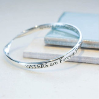 image of Message bangle sisters are forever friends