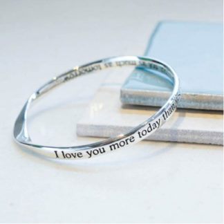image of Love You More Today Message Bangle