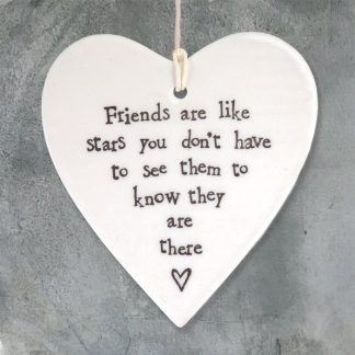 image of Hanging Heart - Friends are like stars - by East of India