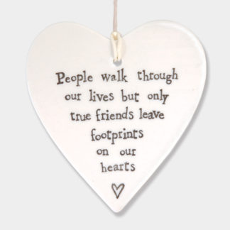 "image of East of India Hanging Heart ""People Walk"""