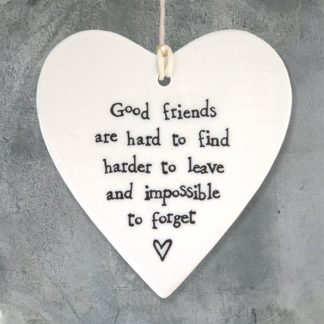 image of hanging heart good friends are hard to find and harder to leave by east of india