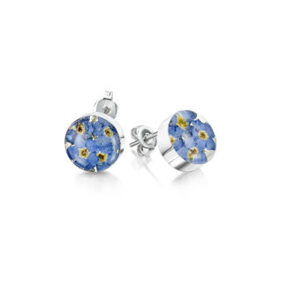 image of Silver Stud - Forget-me-not - Round