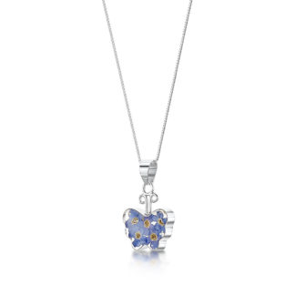 image of Silver Necklace - Forget-me-not - Sm Butterfly