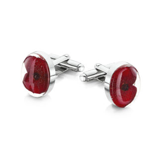 image of Cufflinks - Poppy collection - Oval