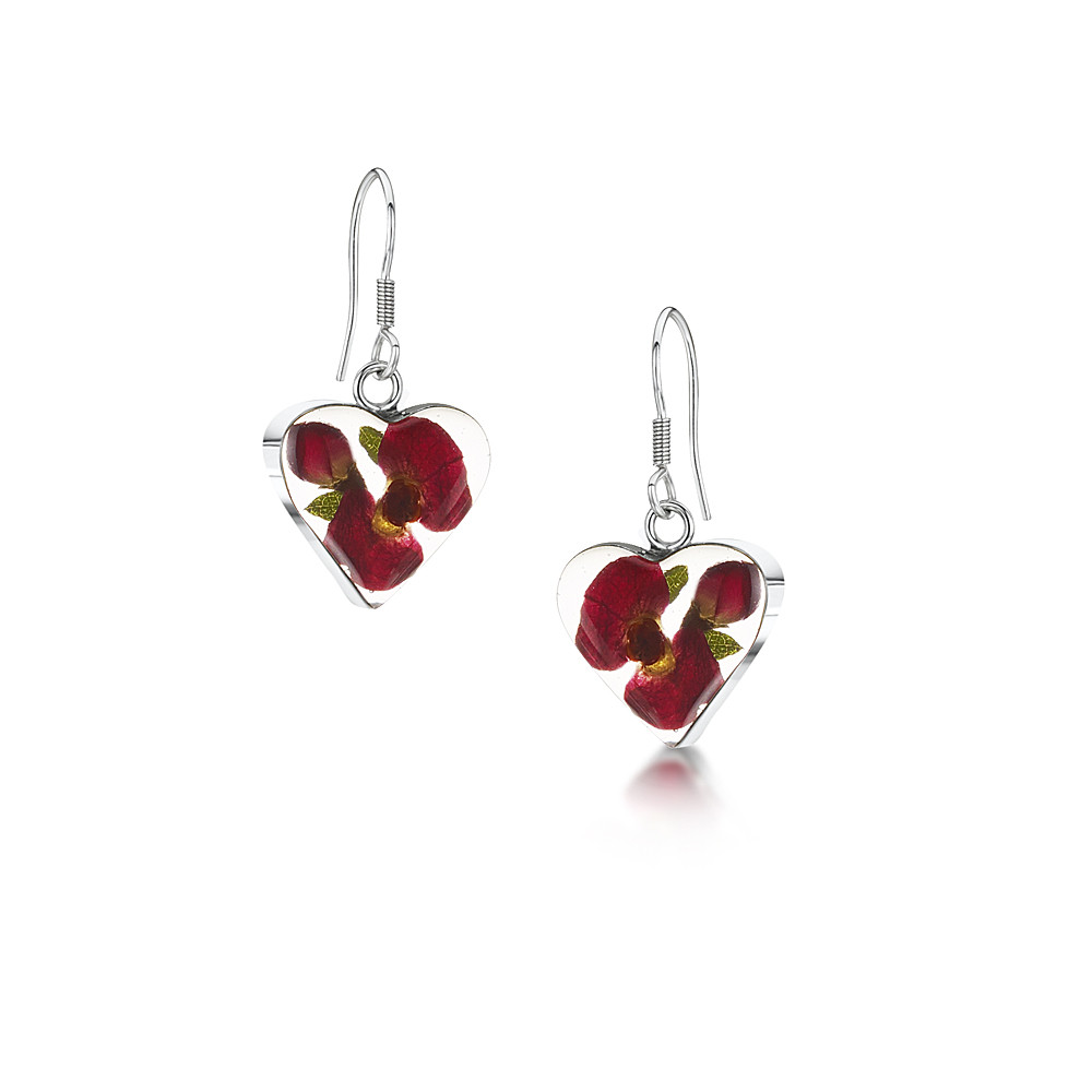 The Poppy Collection ® Heart Drop Earrings