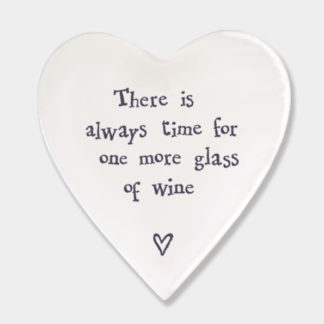 """image of East Of India """"There is always time for a glass of wine"""" Heart Coaste"""