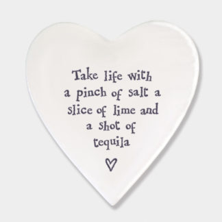 "image of East Of India ""Take Life With A Pinch of Salt"" coaster"