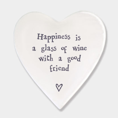 """image of East of India """"Happiness is a glass of wine"""" coaster"""
