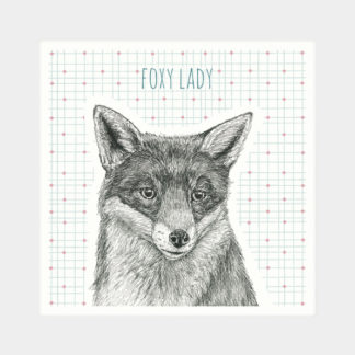 "image of East of India Animal Coaster ""Foxy Lady"""