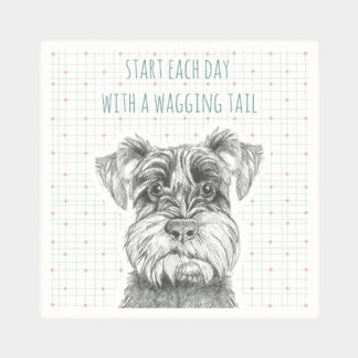 "image of East of India Animal Coaster ""start each day with a wagging tail"""