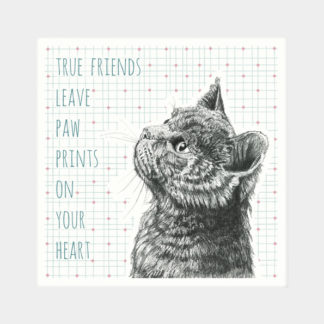 "image of East of India Animal Coaster - ""True friends leave paw prints on your heart"""