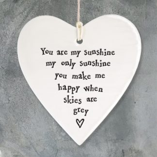 image of Hanging Heart You are my sunshine my only sunshine by East of India