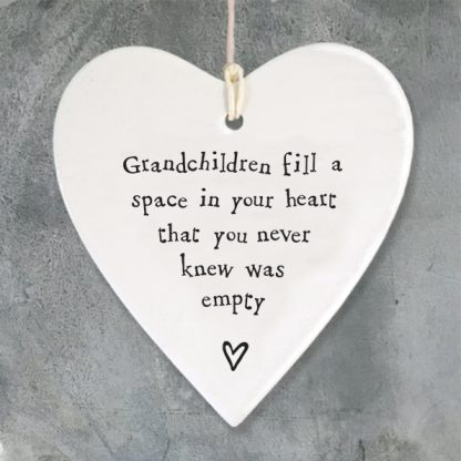image of hanging heart grandchildren fill a space