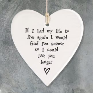 image of hanging heart If I had my life to live again