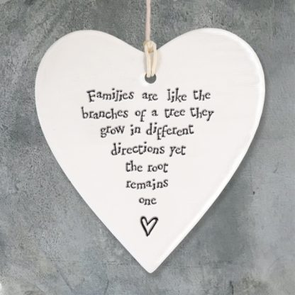 image of hanging heart families are like branches by East of India