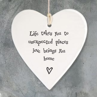 image of Hanging Heart - Life takes you too unexpected places, love brings you home by East of India