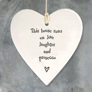 image of Hanging Heart - This house runs on Love and Prosecco by East of India