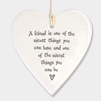 "image of East of India - Hanging Heart ""A Friend is ....."""