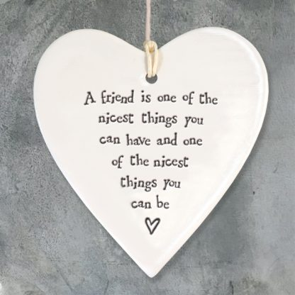 image of hanging heart a friend is one of the nicest things