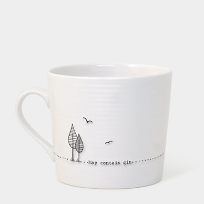 "image of East Of India - Wobbly Mug ""May Contain Gin"""
