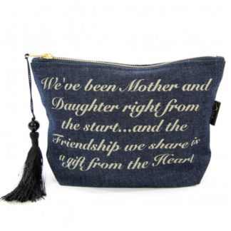 image of denim mother and daughter make up bag