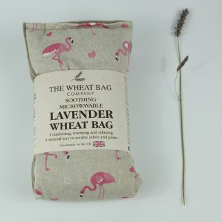 image of Microwavable Wheat Bag – English Lavender Scent – Flamingo's