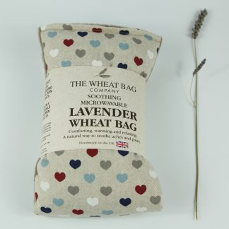 image of Microwavable Wheat Bag – English Lavender Scent – Multi Hearts