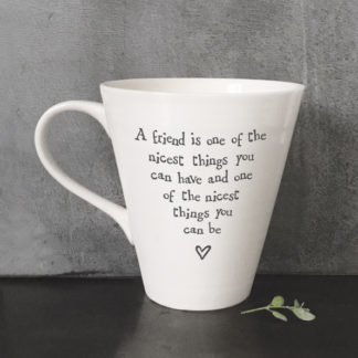 image of white mug, friend is one of the nicest things