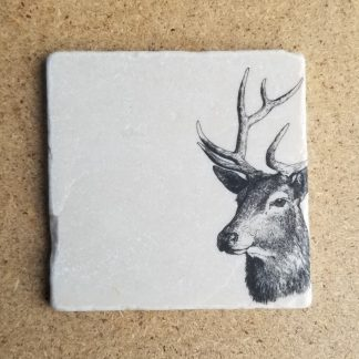 image of stag coaster