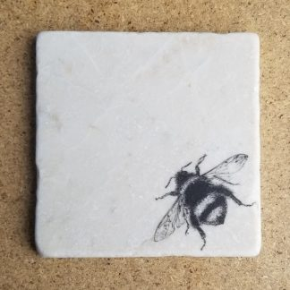 image of a bee coaster