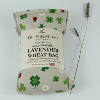 image of Microwavable Wheat Bag – English Lavender Scent – Cloverleaf