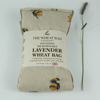image of Microwavable Wheat Bag – English Lavender Scent – Bees