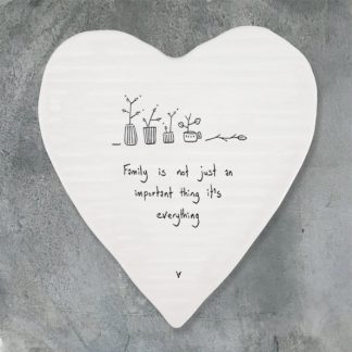 image of Heart coaster-Family is everything