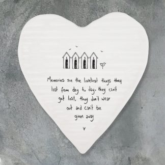 image of Heart coaster-Memories are loveliest things