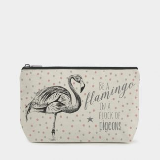 image of make up bag flamingo by east of india