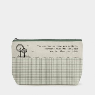 image of make up bag you are braver by east of india