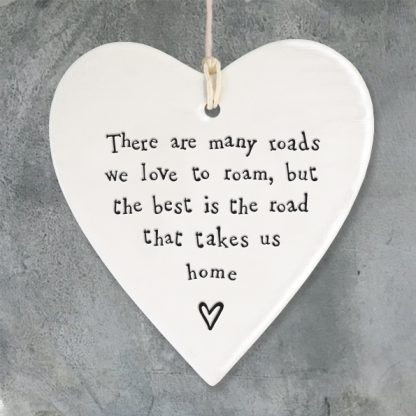 image of Hanging Heart - There are many roads