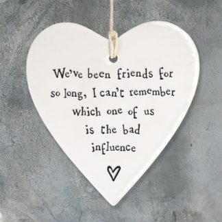 image of Hanging Heart - We've been friends for so long
