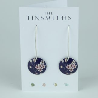 Image of The Tinsmiths Jasmine Long Disk Drop Earrings