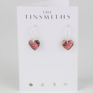 image of The Tinsmiths Tiger Lily Tiny Round Heart Drop Earrings